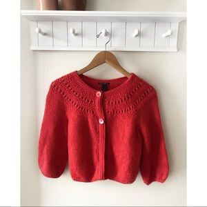 Lucky Brand Red Knit Cardigan